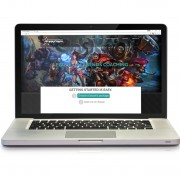 Laptop with customized website