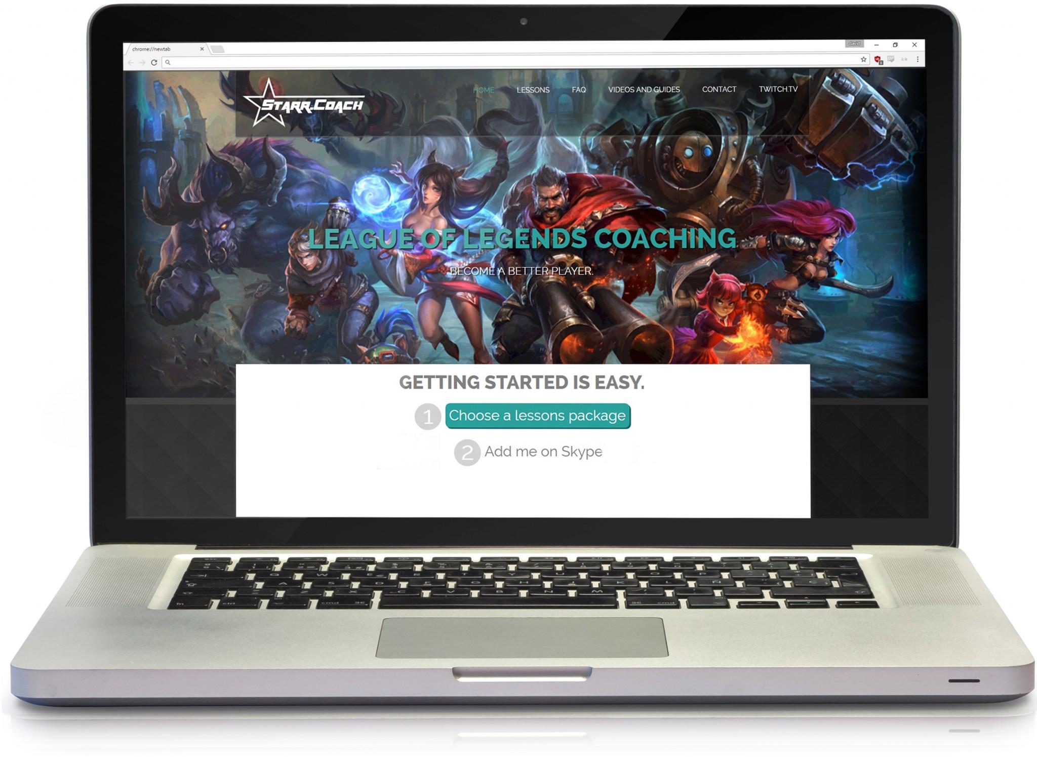 laptop with custom website design